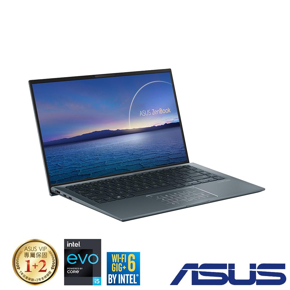 ASUS UX435EAL 14吋筆電 (i5-1135G7/16G/512G/EVO平台/ZenBook 14/綠松灰)