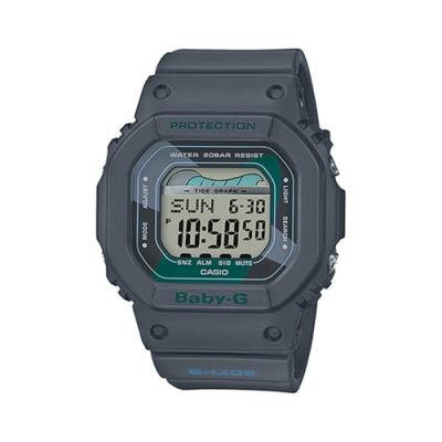 CASIO卡西歐 BABY-G系列 復古女錶 (BLX-560VH-1)-灰/40.0mm
