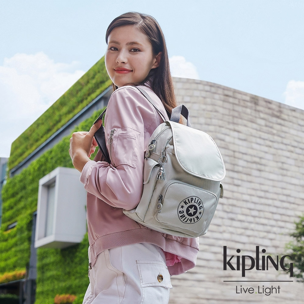 Kipling 質感活躍銀拉鍊掀蓋後背包-CITY PACK MINI product image 1