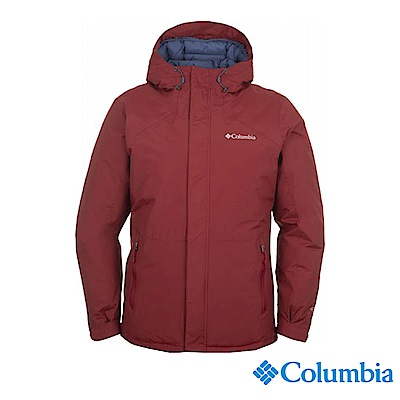 Columbia哥倫比亞 男款-Omni-HEAT鋁點保暖防水外套-紅色