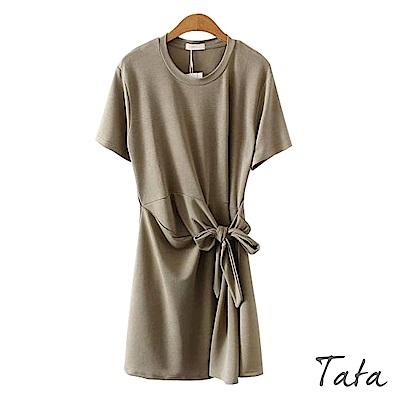 綁結造型冰絲涼感洋裝 共二色 TATA-F
