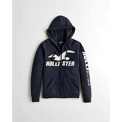 Hollister HCO 長袖 女 帽T  藍色 0682