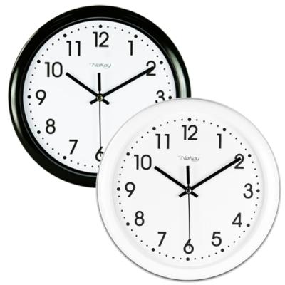 【NAKAY】8吋簡約靜音數字掛鐘/時鐘(NCL-39)黑白配