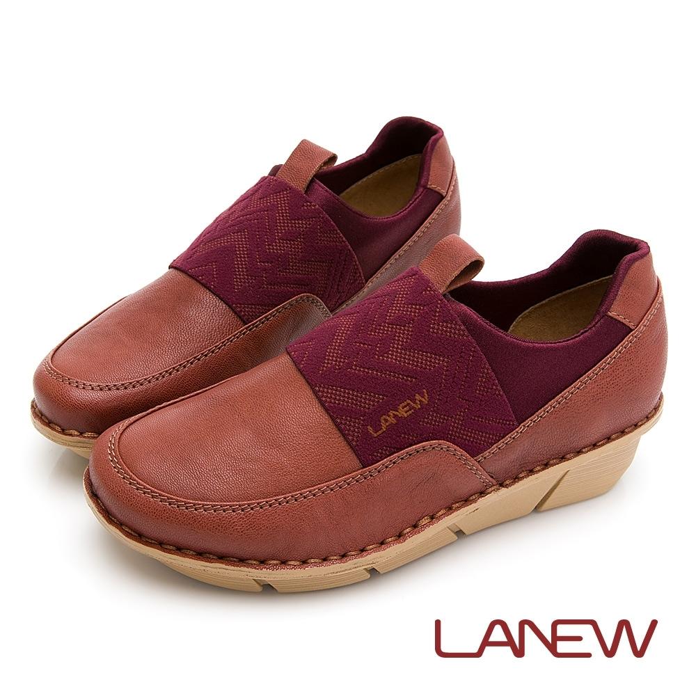 LA NEW 優纖淨 抑菌消臭 彈性布拼接 氣墊休閒鞋 懶人鞋(女225025706)