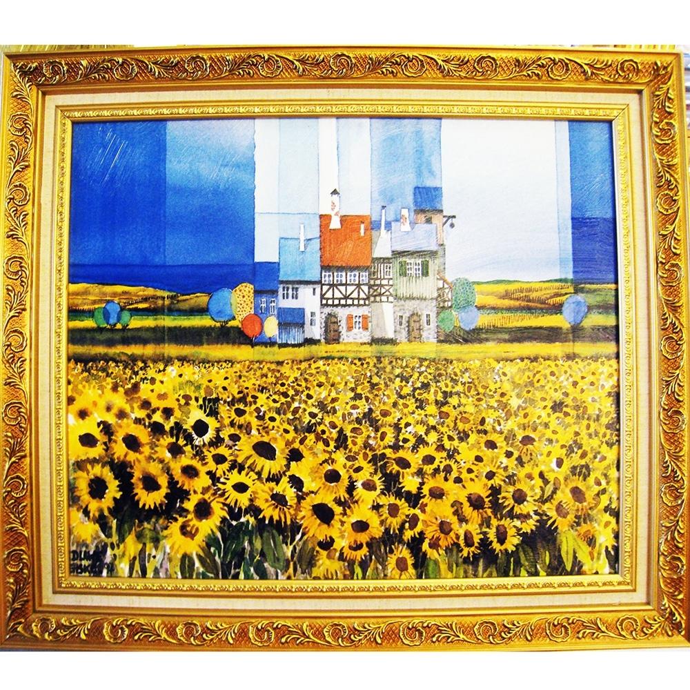 柔美系列 畫作--太陽花【幸福向日葵】60x52cm