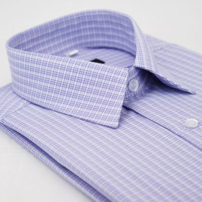 金‧安德森 紫色格紋吸排長袖襯衫