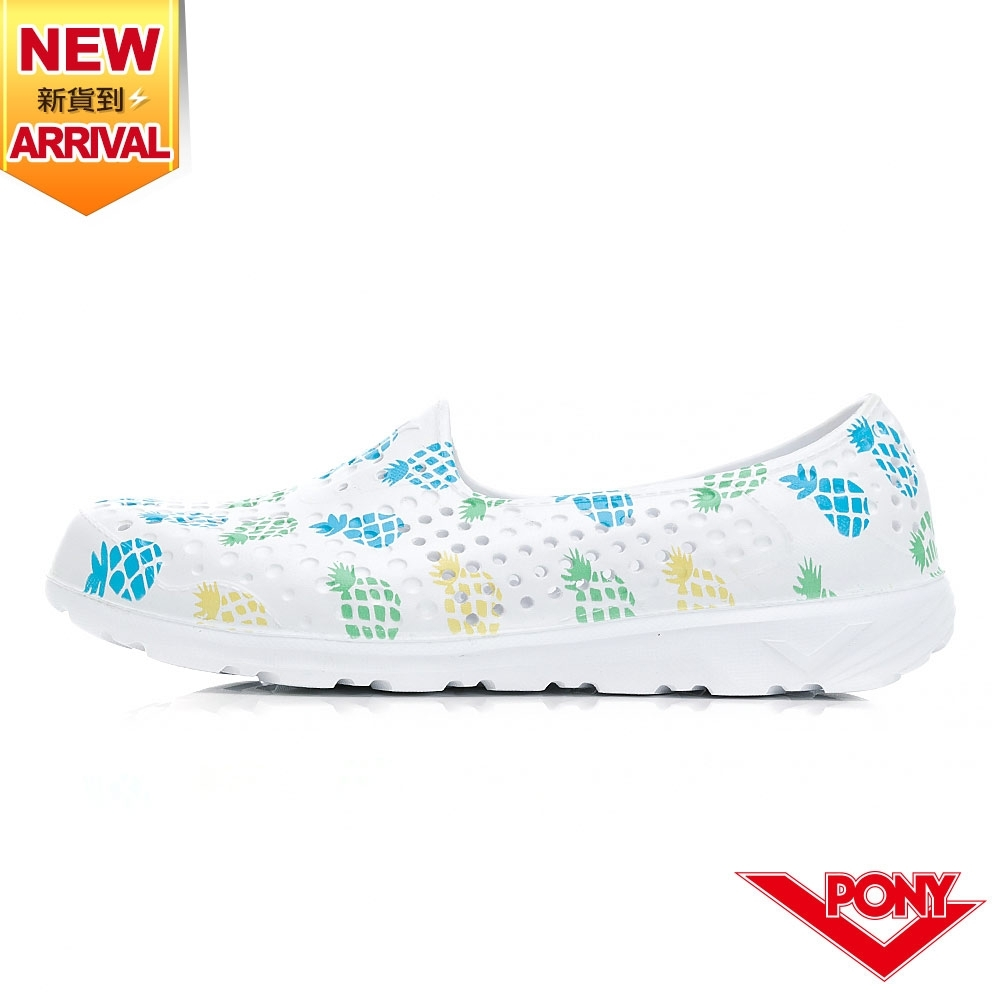 【PONY】TROPIC GOGO鞋  洞洞鞋 晴雨鞋 水鞋 涼鞋 女鞋-鳳梨/果綠