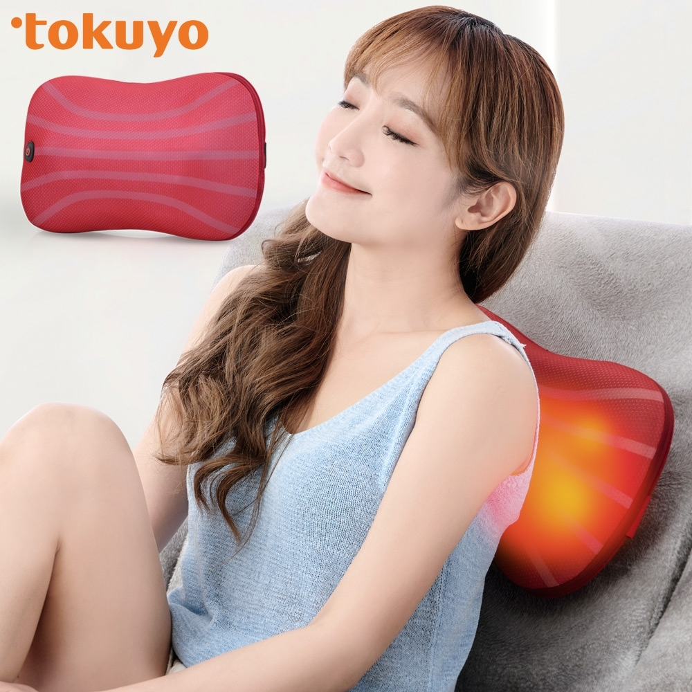 tokuyo 3D溫感揉壓按摩枕 TH-272(正反轉揉捏按摩腰枕頸枕)