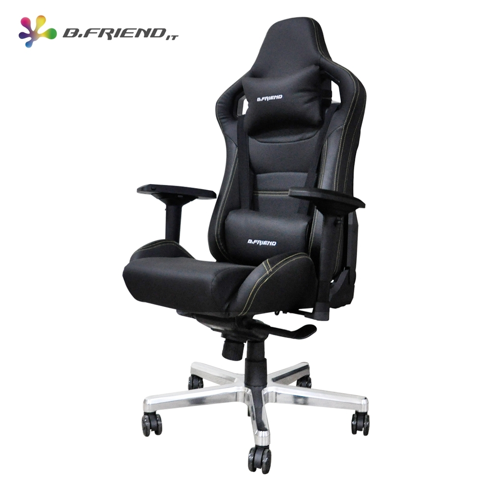 B.Friend GC07 電競專用椅 (黑)+ MP07 RGB發光大型滑鼠墊