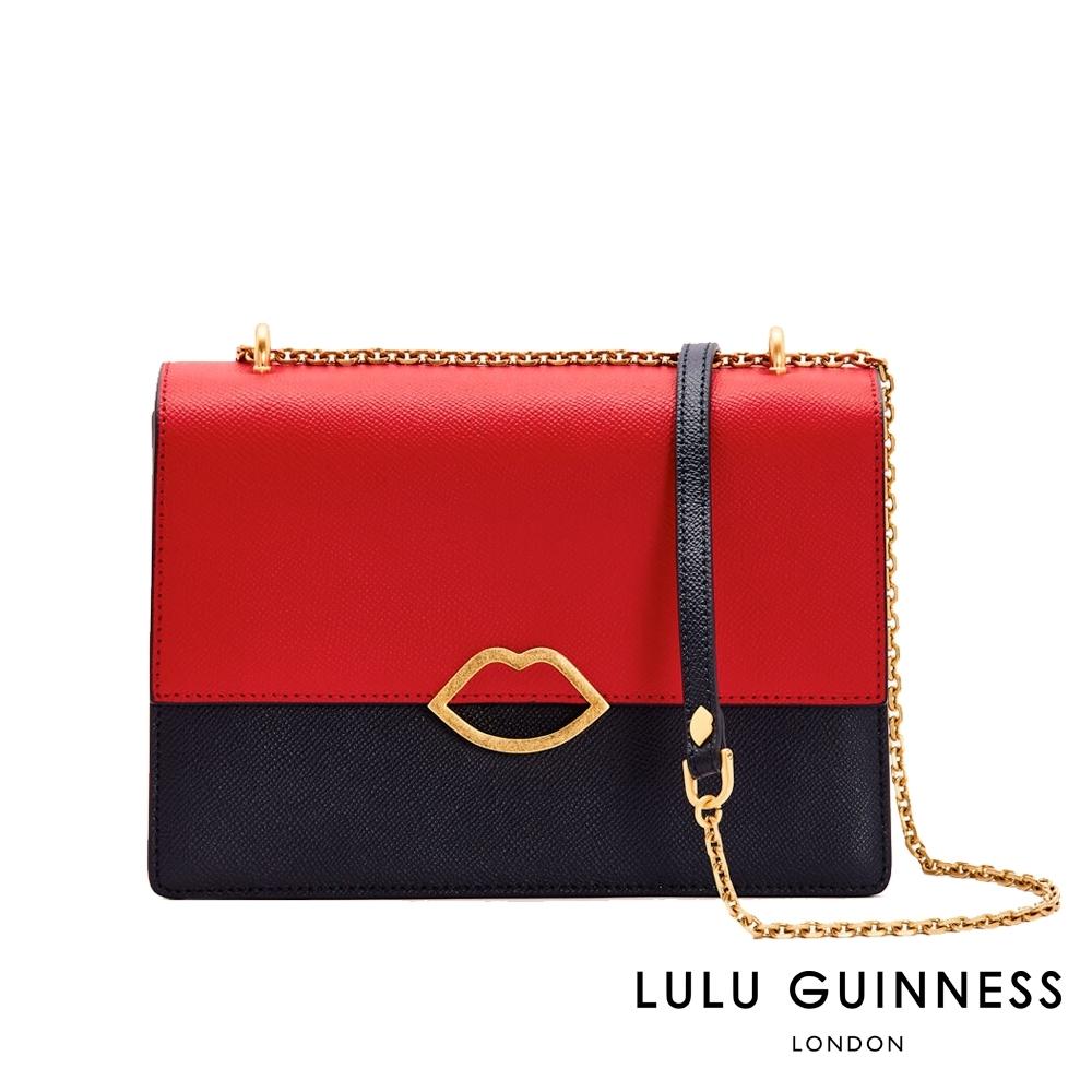 LULU GUINNESS POPPY 側背包 (紅/海軍藍)