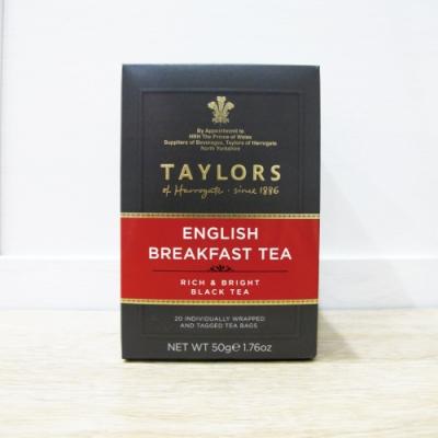 英國皇家泰勒茶Taylors 英式早安茶紅茶包(20入/盒)
