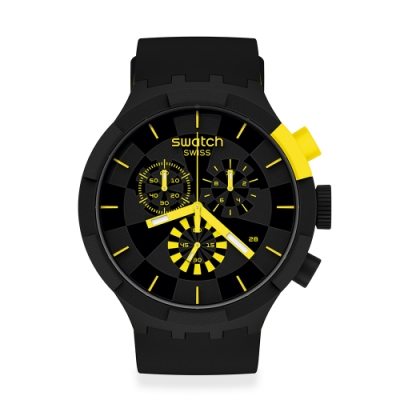 Swatch BIG BOLD系列手錶 CHECKPOINT YELLOW -47mm