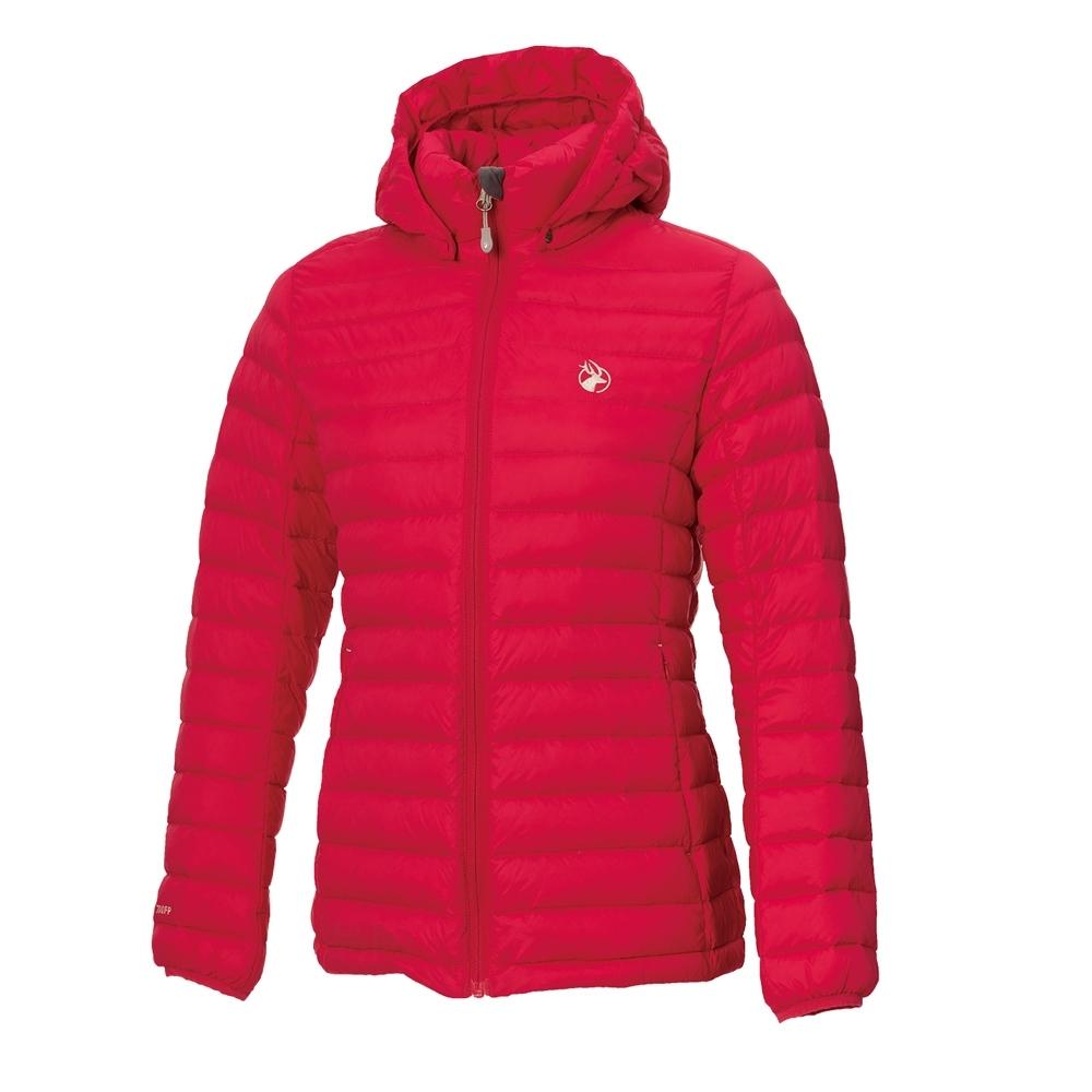 【WILDLAND荒野】女收納枕拆帽極暖鵝絨外套111胭脂紅