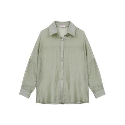 Shester55-慵懶透膚襯衫(兩色)-女【TSH229】