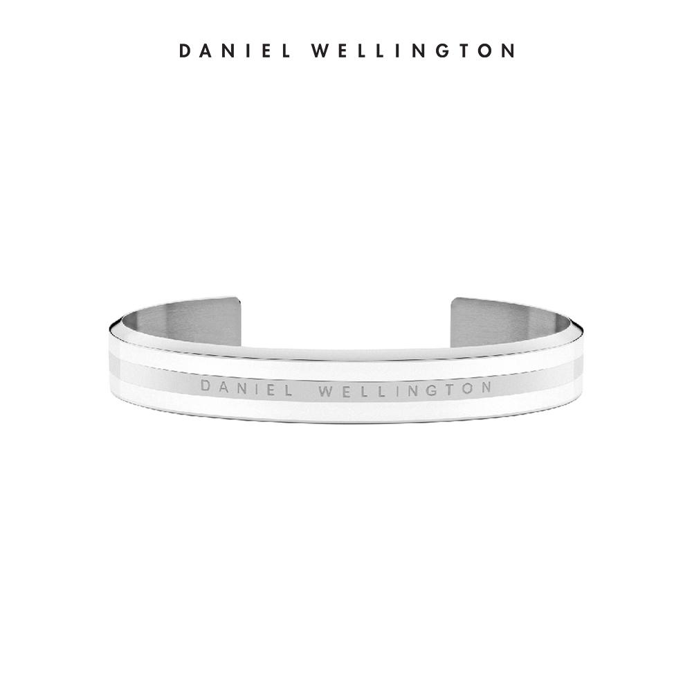 DW 手環 Classic Bracelet 時尚奢華手鐲 簡約銀x白-M