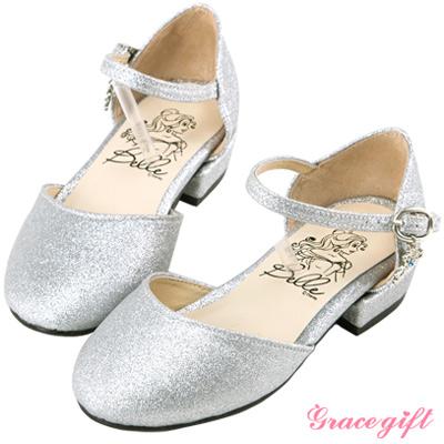 Disney collection by grace gift-皇冠吊飾童鞋 銀碎石