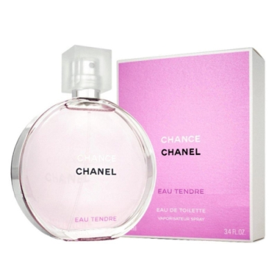 (盒損良品)CHANEL香奈兒 CHANCE 粉紅甜蜜淡香水 100ml