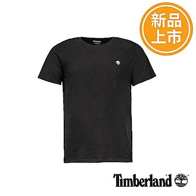 Timberland 男款黑色圓標LOGO短袖T恤