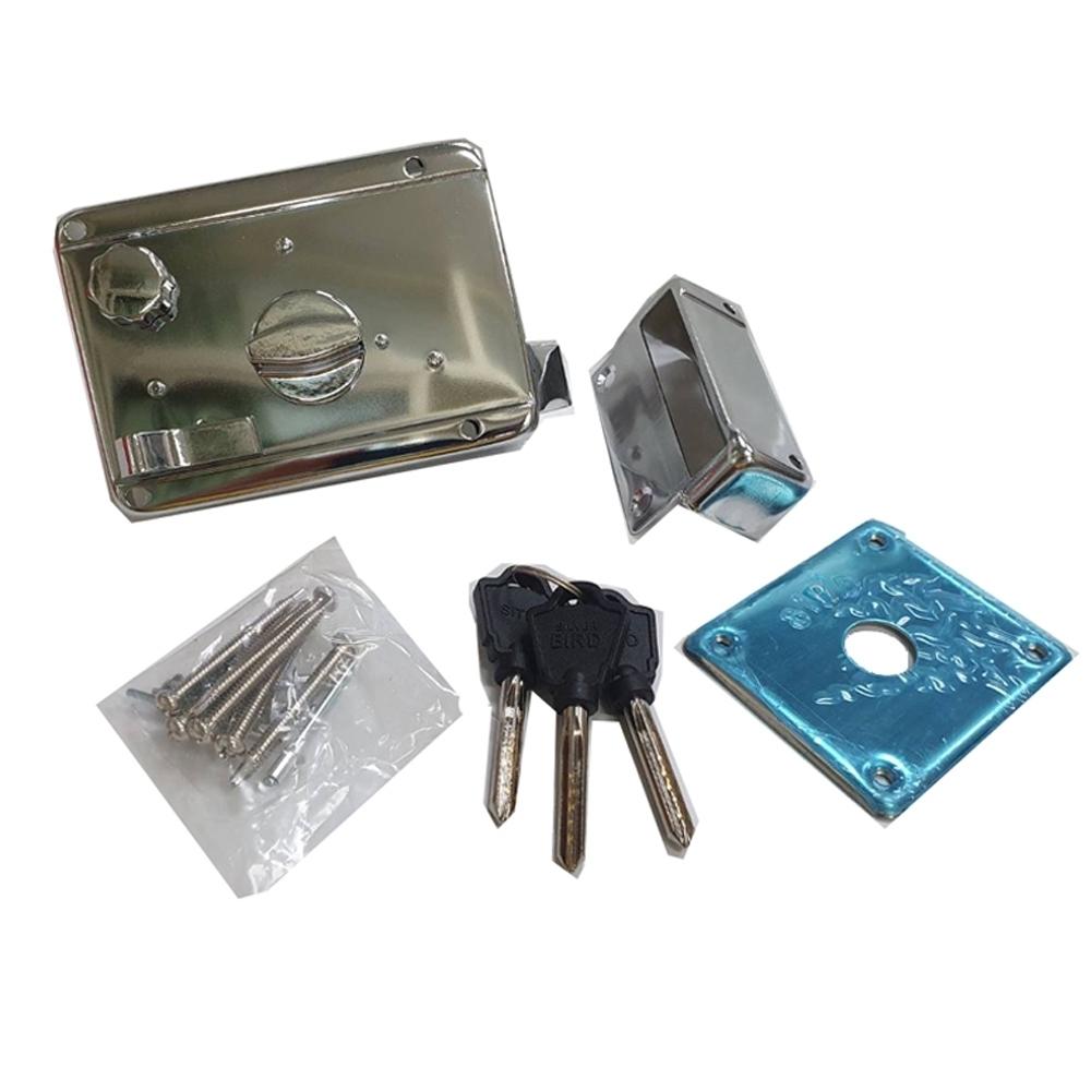 LI015 BIRD 三段鎖 連體式三段鎖 火箭式鎖匙 3段鎖 單開電白 隱藏式門鎖 大門鎖