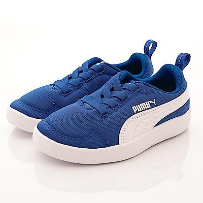 PUMA童鞋 綁帶慢跑款 364277-05藍(小童段)-0-17