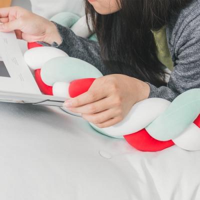 樂嫚妮 麻花辮抱枕 靠枕 趴枕 腰枕-3色