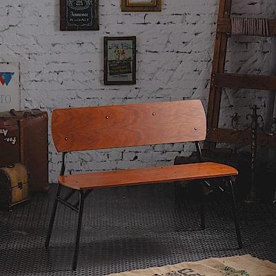 工業風休閒復古雙人椅(100x49x71cm)