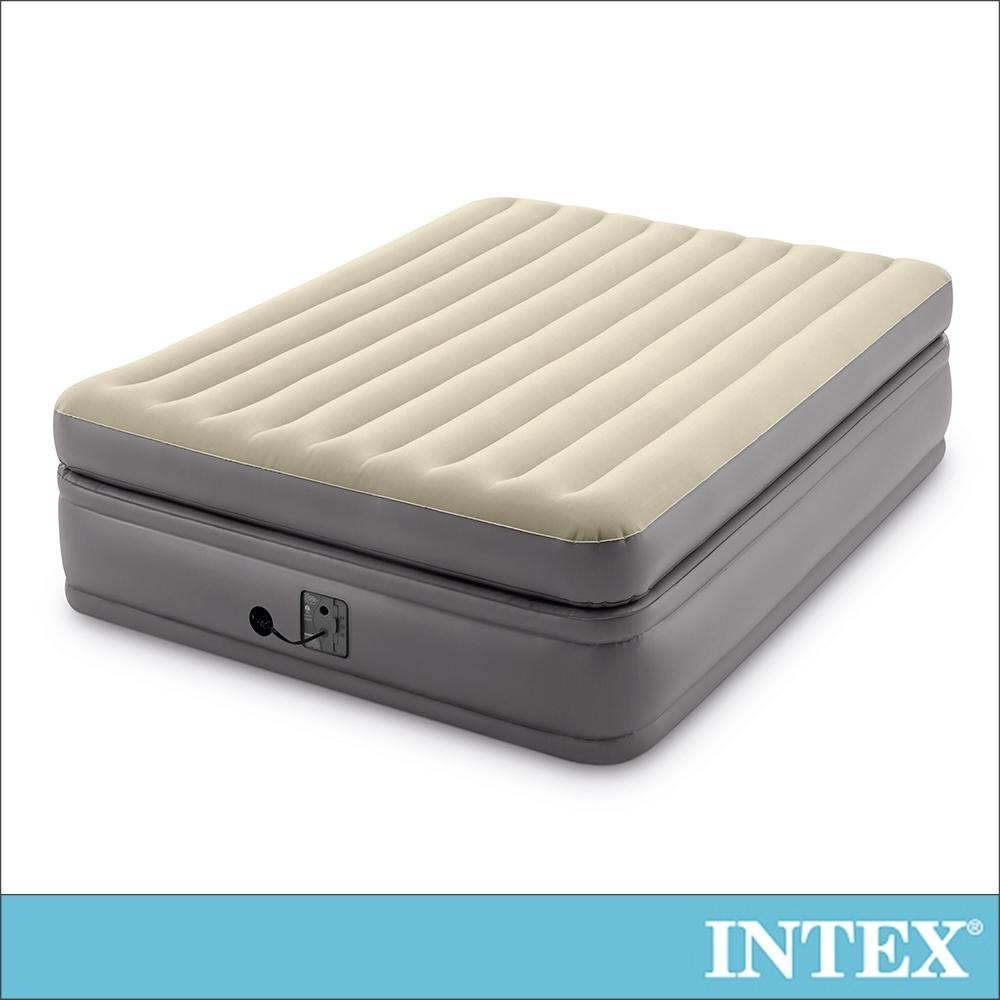 INTEX 豪華雙氣室加高雙人加大充氣床墊152x203x高51cm(64163)