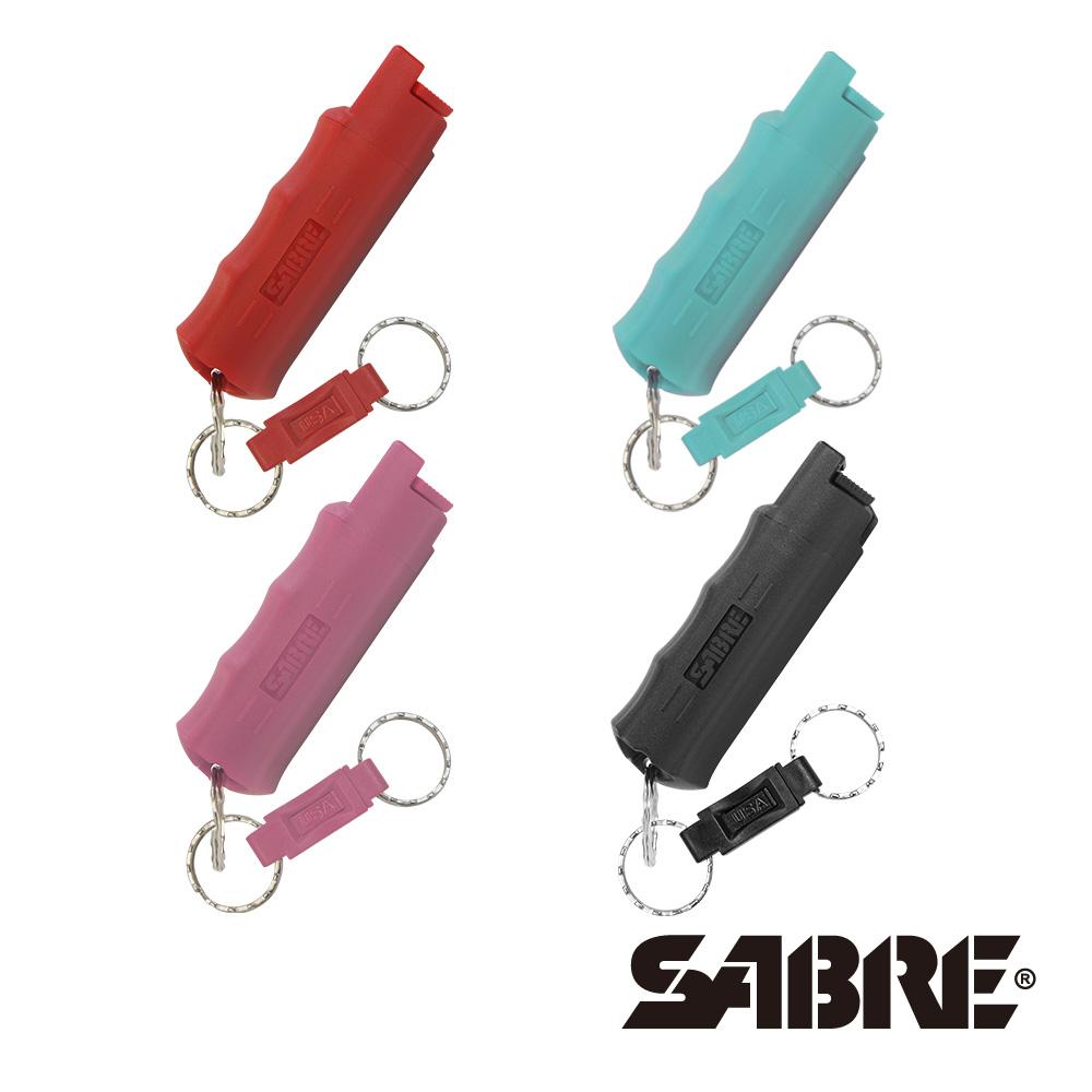 快拆型(紅/粉紅/黑/水藍)-兩入組-SABRE沙豹防身噴霧
