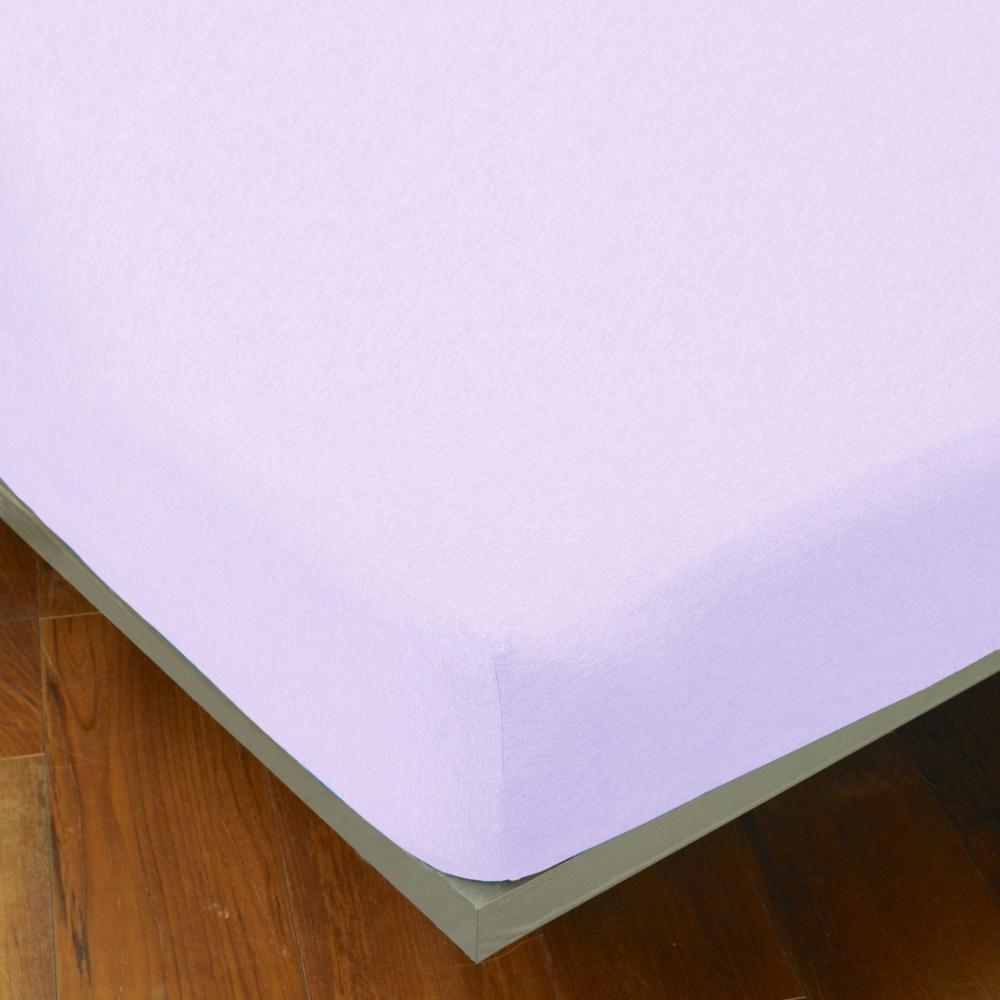 YVONNE COLLECTION 雙人純棉素面床包-淺紫