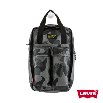Levis 男女同款 L1機能後背包 雪地迷彩 都會電腦包 手提 後背兩用
