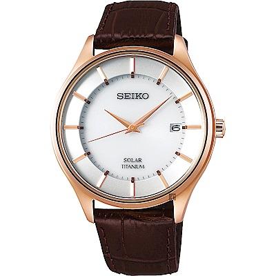 SEIKO精工 SPIRIT SMART 太陽能鈦金屬手錶(SBPX106J)