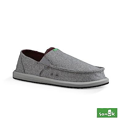 SANUK PICK POCKET FELT 羊毛口袋寬版懶人鞋-男款(灰色)