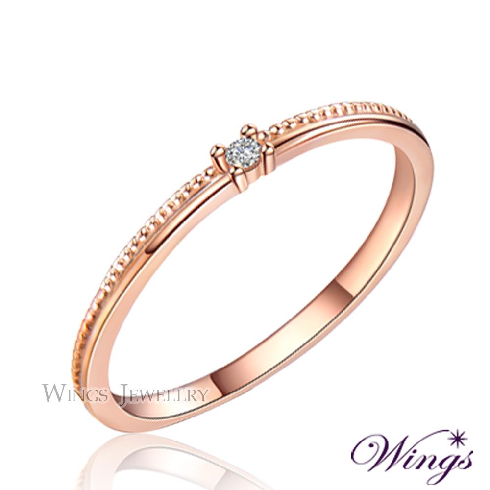 Wings 星河 纖細美麗的優雅 精鍍玫瑰金戒指 尾戒