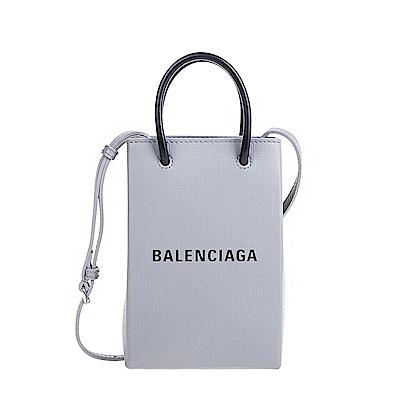 Balenciaga 新款Shopping Phone Holder Logo手提/肩背相機包 (二色可選)