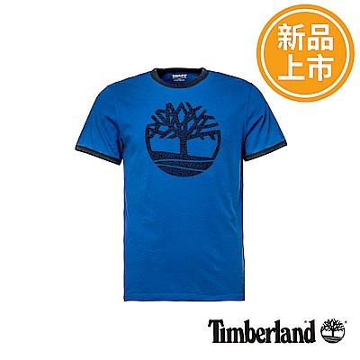 Timberland 男款寶藍色大樹LOGO短袖T恤
