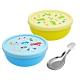 食品級矽膠隔熱碗-藍色汽車X1入+黃色恐龍X1入 product thumbnail 1