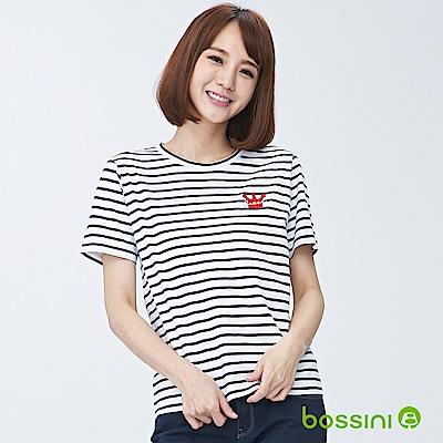 bossini女裝-圓領短袖上衣03灰白