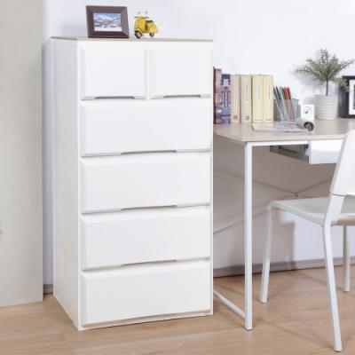 創意達人x樹德伯斯加寬木頂板2+4抽收納櫃(173L)-1入組