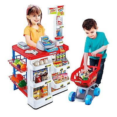 兒童玩具 家家酒系列玩具 聲光仿真超市收銀台 668-01
