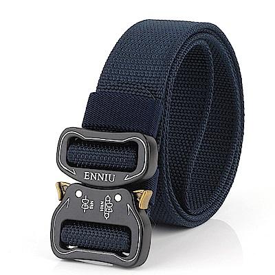 ZK2054BU眼鏡蛇加厚腰帶尼龍腰带藍色(腰圍20吋-40吋適用)