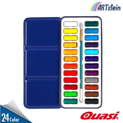 美國Quasi Surreal水彩塊24色 附水彩筆