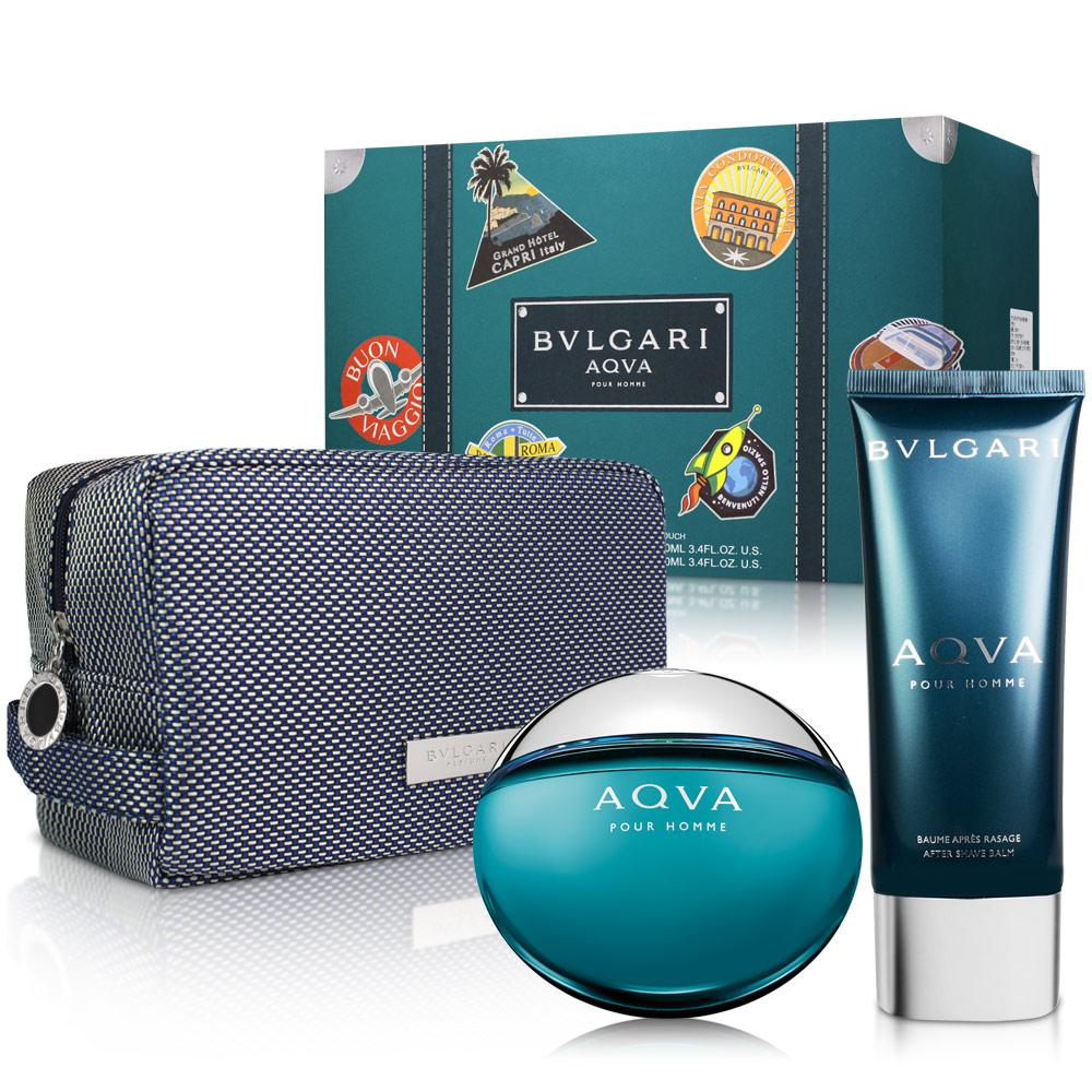 BVLGARI寶格麗 AQVA 水能量男性淡香水禮盒
