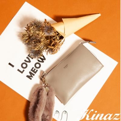 KINAZ 手腕毛毛手拿包-甜漾奶茶-小圓姐姐系列