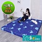窩床的日子-折疊彈簧款(彈簧10cm床墊) 彈簧結構高支撐性床墊 含布套(雙人)