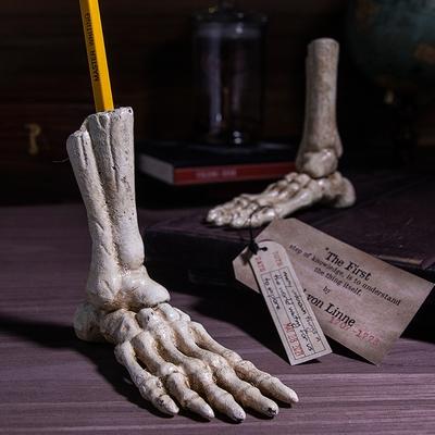 賽先生科學 鑄鐵骷髏腳造型筆座