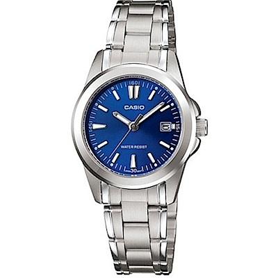 CASIO 時尚魅力典雅淑女腕錶(LTP-1215A-2A2)-藍面/28mm