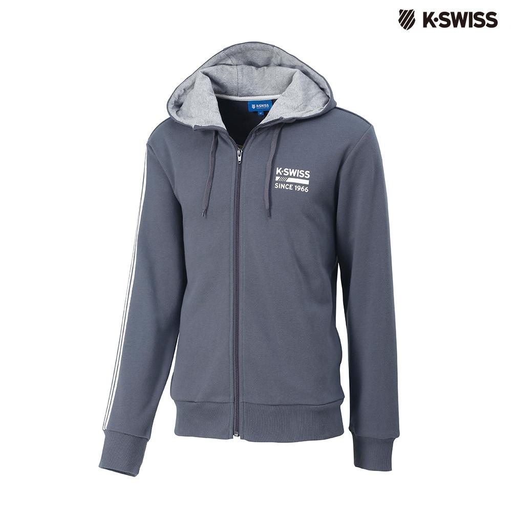 K-SWISS High Front Hoodie JKT連帽外套-男-灰 @ Y!購物