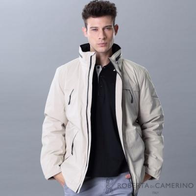 ROBERTA諾貝達 內裡舖棉 保暖休閒夾克外套 米色