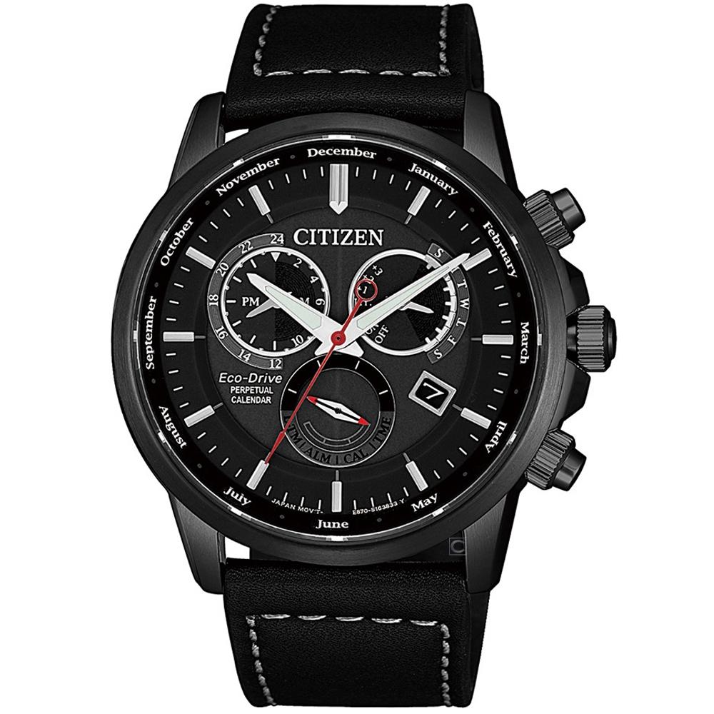 CITIZEN 卓越非凡光動能萬年曆手錶(BL8155-15E)42mm