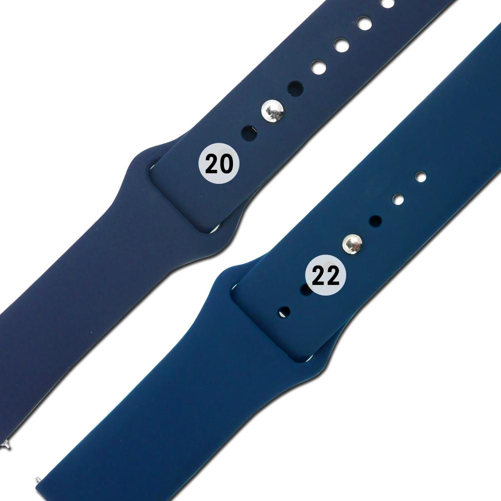 Watchband / 各品牌通用 快拆錶耳 穿式按夾扣 舒適 矽膠錶帶 深藍